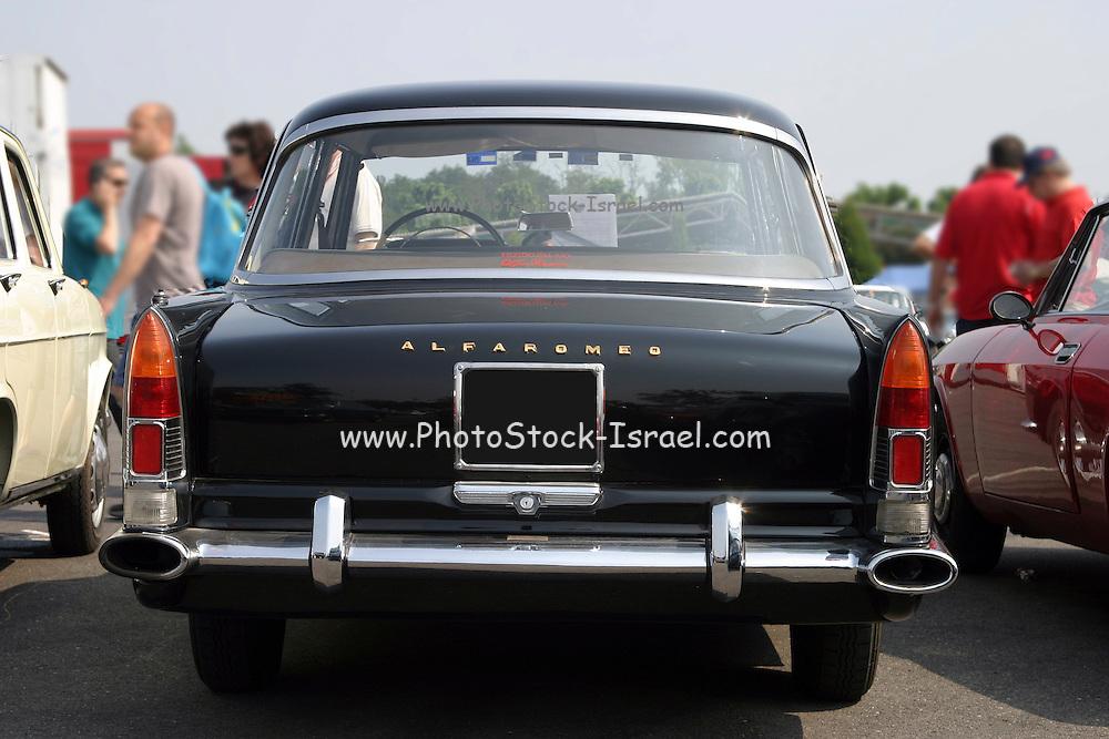 Black Alfa Romeo Saloon - Rear View