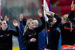 06-12-2019 JAP: Norway - Netherlands, Kumamoto<br /> Last match groep A at 24th IHF Women's Handball World Championship. / The Dutch handball players won in an exciting game of fear gegner Norway and wrote in the last group match at the World Handball  World Championship history (30-28). / Angela Malestein #26 of Netherlands