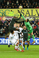 Football - 2017 / 2018 Premier League - Swansea City vs. West Bromwich Albion<br /> <br /> Lukasz Fabianski of Swansea City punches the ball away, at The Liberty Stadium.<br /> <br /> COLORSPORT/WINSTON BYNORTH