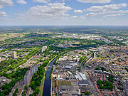 Nederland, Noord-Brabant, Tilburg, 14-05-2020; Wilhelminakanaal door Tilburg-Noord, Kanaalzone 1, Groeseind.<br /> <br /> luchtfoto (toeslag op standard tarieven);<br /> aerial photo (additional fee required);<br /> copyright foto/photo Siebe Swart