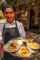 Waiter at Cafe Rosa, Santiago, Chile