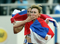 Friidrett, 14. august 2005, VM Helsinki, <br /> World Championships in Athletics<br /> Tatyana Tomashova, Russland winner 1500 metres