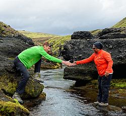 09-07-2014 ISL: Iceland Diabetes Challenge Dag 5, Emstrur<br /> Van Alftavatn naar Emstrur / Ellen Liklikwatil, Bas van de Goor