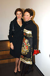 Left to right, NORI STARCK and VICTORIA FERNANDEZ at an exhibition of photographs by Matthew Mellon entitled Famous Feet - featuring well known people wearing shoes from Harrys of London, held at Hamiltons Gallery, Carlos Place, London on 22nd November 2004.<br /><br />NON EXCLUSIVE - WORLD RIGHTS