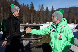 Nejc Dezman and Jernej Damjan during ski jumping training in Nordic Center Planica before Four Hills Tournament, on December 21, 2016 in Nordic, Center Planica, Planica, Slovenia. Photo by Matic Klansek Velej / Sportida