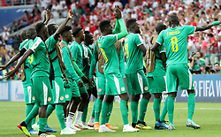MOSCOW, June 19, 2018  Players of Senegal celebrate victory after a Group H match between Poland and Senegal at the 2018 FIFA World Cup in Moscow, Russia, June 19, 2018. Senegal won 2-1. (Credit Image: © Xu Zijian/Xinhua via ZUMA Wire)