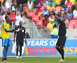during the 1st leg of the MTN8 Semi Final between Chippa United and Mamelodi Sundowns held at the Nelson Mandela Bay Stadium in Port Elizabeth, South Africa on the 11th September 2016<br /><br />Photo by: Richard Huggard / Real Time Images