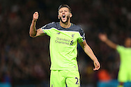 Adam Lallana of Liverpool reacts to a decision .. Premier League match, Crystal Palace v Liverpool at Selhurst Park in London on Saturday 29th October 2016.<br /> pic by John Patrick Fletcher, Andrew Orchard sports photography.