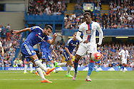 Pedro of Chelsea in action.  Barclays Premier League, Chelsea v Crystal Palace at Stamford Bridge in London on Saturday 29th August 2015.<br /> pic by John Patrick Fletcher, Andrew Orchard sports photography.