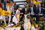 Golden State Warriors forward Draymond Green (23) dunks the ball against the Utah Jazz during Game 1 of the Western Conference Semifinals at Oracle Arena in Oakland, Calif., on May 2, 2017. (Stan Olszewski/Special to S.F. Examiner)