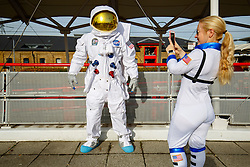 © Licensed to London News Pictures. 25/10/2015. London, UK. A cosplayer dressed as an astronaut attending the MCM London Comic Con at ExCeL Convention Centre on Sunday, 25 October 2015. Photo credit: Tolga Akmen/LNP