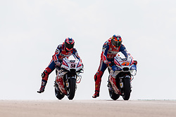 September 21, 2018 - Aragon, Espagne - JACK MILLER - AUSTRALIAN - ALMA PRAMAC RACING - HONDA.DANILO PETRUCCI - ITALIAN - ALMA PRAMAC RACING - DUCATI (Credit Image: © Panoramic via ZUMA Press)