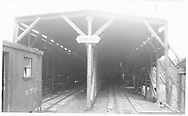 Looking into south end of RGS Lizard Head snowshed.  Outfit box car #01770 is on the siding.<br /> RGS  Lizard Head, CO  Taken by Rice, Frank - 1951<br /> Also at RD137-096.  RD137-091 may be a companion photo.