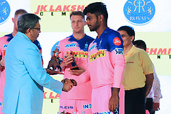 March 22, 2019 - Jaipur, Rajasthan, India - Rajasthan Royals player Jos Butler during the team jersey unveiled ceremony ahead the IPL 2019 matches  in Jaipur, Rajasthan, India  on March 22,2019. (Credit Image: © Vishal Bhatnagar/NurPhoto via ZUMA Press)