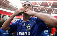 Photo: Paul Thomas.<br /> Chelsea v Manchester United. The FA Cup Final. 19/05/2007.<br /> <br /> Frank Lampard of Chelsea celebrates.