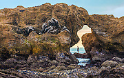 Arch Rock at Cameo Shores Beach in Corona Del Mar California