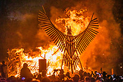 The pagan opening ceremony at the stone circle, the Sacred Place - The 2019 Glastonbury Festival, Worthy Farm. Glastonbury, 26 June 2019