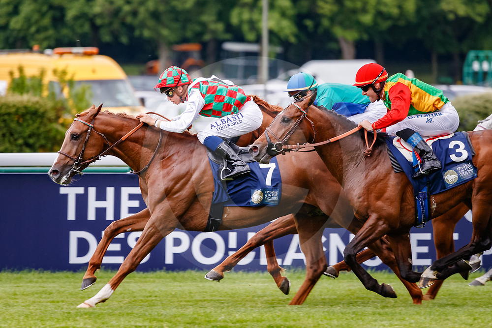Shahm (M. Barzalona) wins The President of the UAE Cup - Coupe d'Europe des Chevaux Arabes Gr. 1 PA, in Paris Longchamp, France, 13/05/2018, photo: Zuzanna Lupa