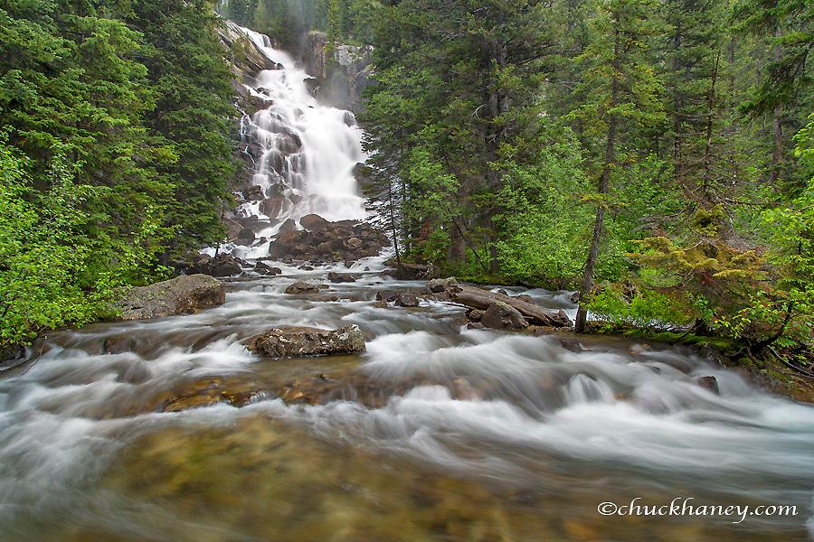 Hiddens Falls of Cascade Creek in Grand Teton National Park, Wyoming, USA