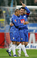 Fotball<br /> Tyskland<br /> Foto: Witters/Digitalsport<br /> NORWAY ONLY<br /> <br /> 02.03.2008<br /> <br /> Jubel 1:0 v.l.  Joel Epalle, Thomas Zdebel Bochum<br /> Bundesliga VfL Bochum - Bayer 04 Leverkusen