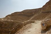 Israel National Trail at Barak Stream, Aravah Desert,  Israel,