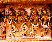 detail of a freize from the  Buddhist monastery of gDan-sa-mthil showing dead dancers. 15th century gilded copper. Tibet (origine)