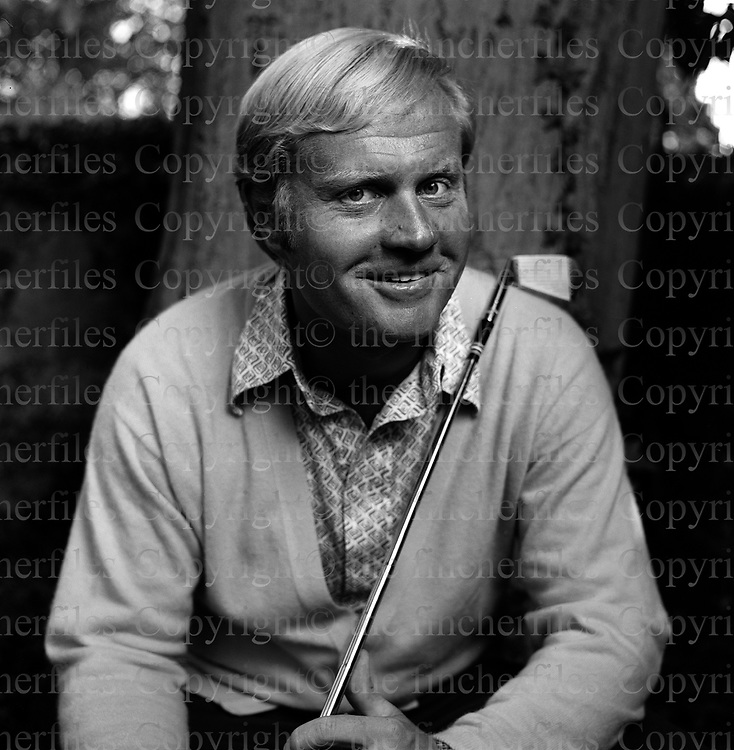 American golfer Jack Nicklaus photographed in 1971 by  Terry Fincher. Copyright © Terry Fincher 1971.