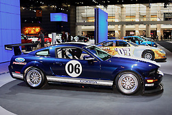 08 February 2007: 2007 Ford Mustang Cobra SVT, decked out in racing garb. The Chicago Auto Show is a charity event of the Chicago Automobile Trade Association (CATA) and is held annually at McCormick Place in Chicago Illinois.