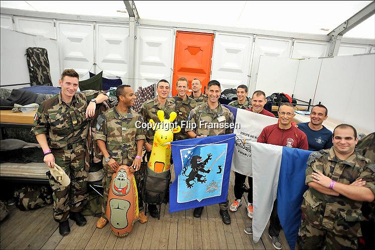 Nederland, Nijmegen, 19-7-2015Vierdaagse, 4daagse, militait kamp Heumensoord. Het Franse contingent.DGFoto  editie NijmegenFoto: Flip Franssen