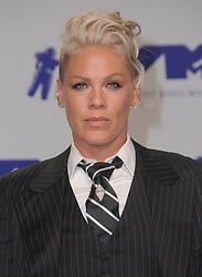 August 27, 2017 - Los Angeles, CA, U.S. - 27 August  2017 - Los Angeles, California - Pink. 2017 MTV Video Music Awards held at The Forum in Los Angeles. Photo Credit: Birdie Thompson/AdMedia (Credit Image: © Birdie Thompson/AdMedia via ZUMA Wire)