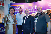 NO FEE PICTURES<br /> 23/1/16 Minister for Tourism Michael Ring and Maureen Ledwith, organiser of the Holiday World Show at the Select Hotels of Ireland stand at the Holiday World Show at the RDS in Dublin. Picture: Arthur Carron