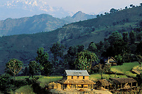 Nepal - Region de Pokhara - Maison traditionnelle Chetri