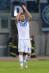 November 8, 2018 - Rome, Italy - Ciro Immobile during the Europe League football match S.S. Lazio vs Olympique de Marseille at the Olympic Stadium in Rome, on november 08, 2018. (Credit Image: © Silvia Lore/NurPhoto via ZUMA Press)