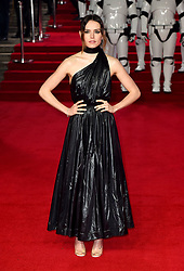 Daisy Ridley attending the european premiere of Star Wars: The Last Jedi held at The Royal Albert Hall, London.