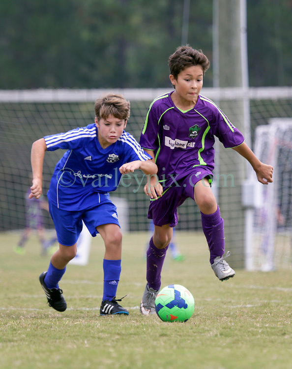 10 October 2015. Mandeville, Louisiana.<br /> New Orleans Jesters Youth Academy.<br /> U10 team Green take on Gulf Coast United (Gold). Jesters emerge victorious.<br /> Photo©; Charlie Varley/varleypix.com