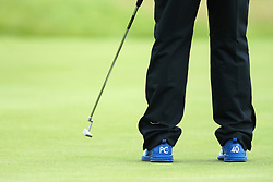 Detail of the shoes of England's Paul Casey who today celebrating his 40th birthday during day two of The Oen Championship 2017 at Royal Birkdale Golf Club, Southport.