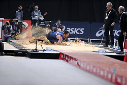 February 7, 2018 - Paris, Ile-de-France, France - Athlete compete in long jump during the Athletics Indoor Meeting of Paris 2018, at AccorHotels Arena (Bercy) in Paris, France on February 7, 2018. (Credit Image: © Michel Stoupak/NurPhoto via ZUMA Press)