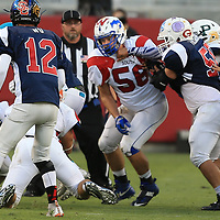 (Photograph by Bill Gerth/ for SVCN/6/24/17)  Pioneer #56 Brandon Dick in the CharieWedemeyer All Star Game at Levi Stadium, San Jose CA on 6/24/17.