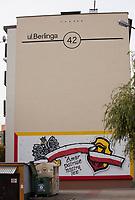 01.10.2016 Bialystok woj podlaskie W miescie ustawie dekomunizacyjnej podlega 11 nazw ulic . Po 1989 roku zdekomunizowano juz 27 nazw ulic N/z ulica komunistycznego generala Zygmunta Berlinga na osiedlu Dziesieciny fot Michal Kosc / AGENCJA WSCHOD