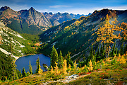 Mountain Larches at Lake Ann in the North Cascades National Park