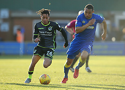 Kyle Bennett of Bristol Rovers takes on Darius Charles of AFC Wimbledon - Mandatory by-line: Robbie Stephenson/JMP - 17/02/2018 - FOOTBALL - Cherry Red Records Stadium - Kingston upon Thames, England - AFC Wimbledon v Bristol Rovers - Sky Bet League One
