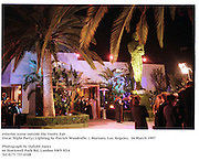 exterior scene outside the Vanity Fair<br />Oscar Night Party.( Lighting by Patrick Woodroffe. ) Mortons. Los Angeles.  24 March 1997<br />Photograph by Dafydd Jones<br />66 Stockwell Park Rd. London SW9 0DA<br />Tel 0171 733 0108