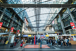 Interior of Berlin Hauptbahnhof main railway station in Berlin, Germany