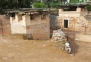 Columbarios Roman burial ground funerary mausoleums, Merida, Extremadura, Spain