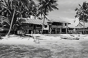 Beach houses at Nias, Indonesia <br />