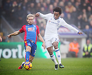 Crystal Palace's Yohan Cabate tussles with Chelsea's Willian during the Premier League match at Selhurst Park Stadium, London. Picture date December 17th, 2016 Pic David Klein/Sportimage