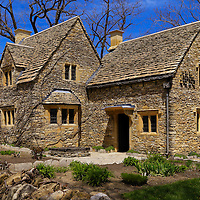 """""""Cotswald Cottage Tea""""<br /> <br /> Beautiful Cotswald Cottage Tea House in Greenfield Village on an early spring day with blue skies and the freshness of a spring day!"""