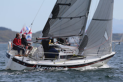 The Clyde Cruising Club's Scottish Series held on Loch Fyne by Tarbert. Day 2 racing in a perfect southerly.GBR9544, Mercenary, Mark Bradshaw, Cove Sailing Club, Hunter Impala