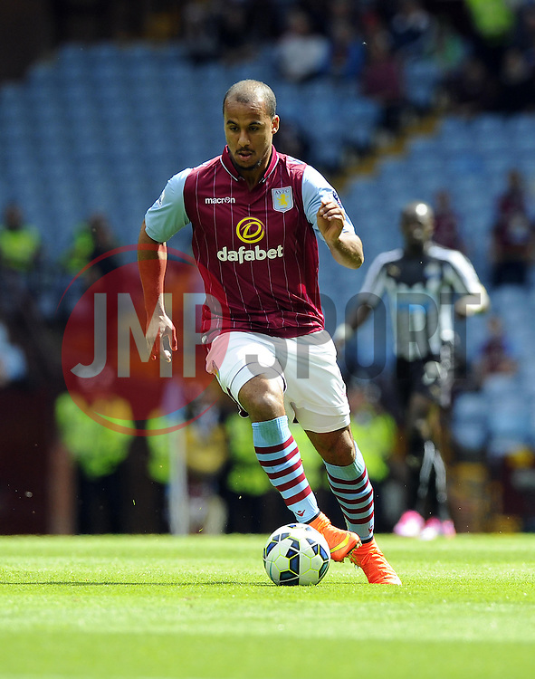 Aston Villa's Gabriel Agbonlahor - Photo mandatory by-line: Joe Meredith/JMP - Mobile: 07966 386802 23/08/2014 - SPORT - FOOTBALL - Birmingham - Villa Park - Aston Villa v Newcastle United - Barclays Premier League