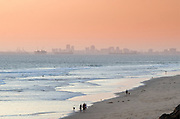 Hazy Afternoon on the Beach in Huntington Beach California